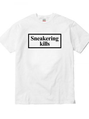 Sneakering Kills White Tee